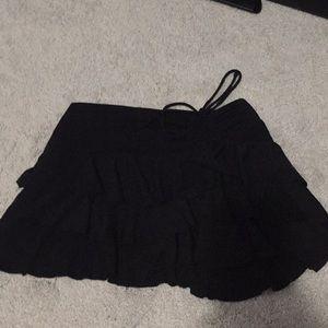 Dresses & Skirts - Black ruffle mini skirt